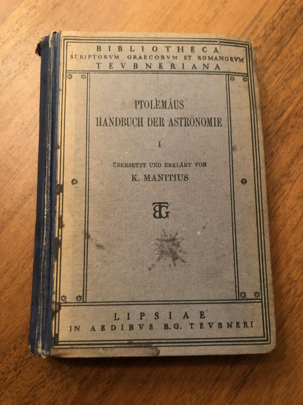 Ptolemäus Handbuch der Astronomie, 1912 – Boekverslag