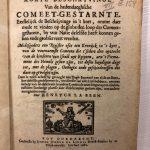 Comeet Gestarnte – 1665 INGEZIEN