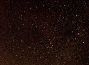 """""""Vallende ster"""" aan de hemel"""